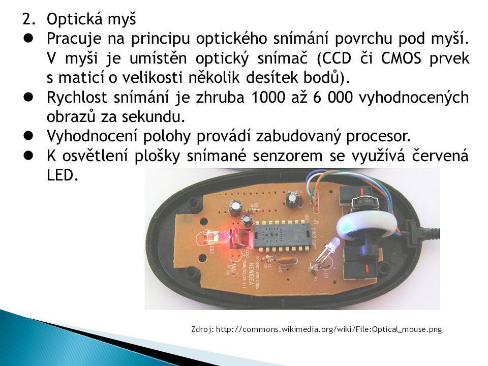 Vyhodnocení polohy provádí zabudovaný procesor.