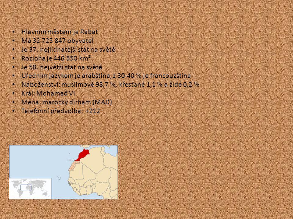 Hlavním městem je Rabat