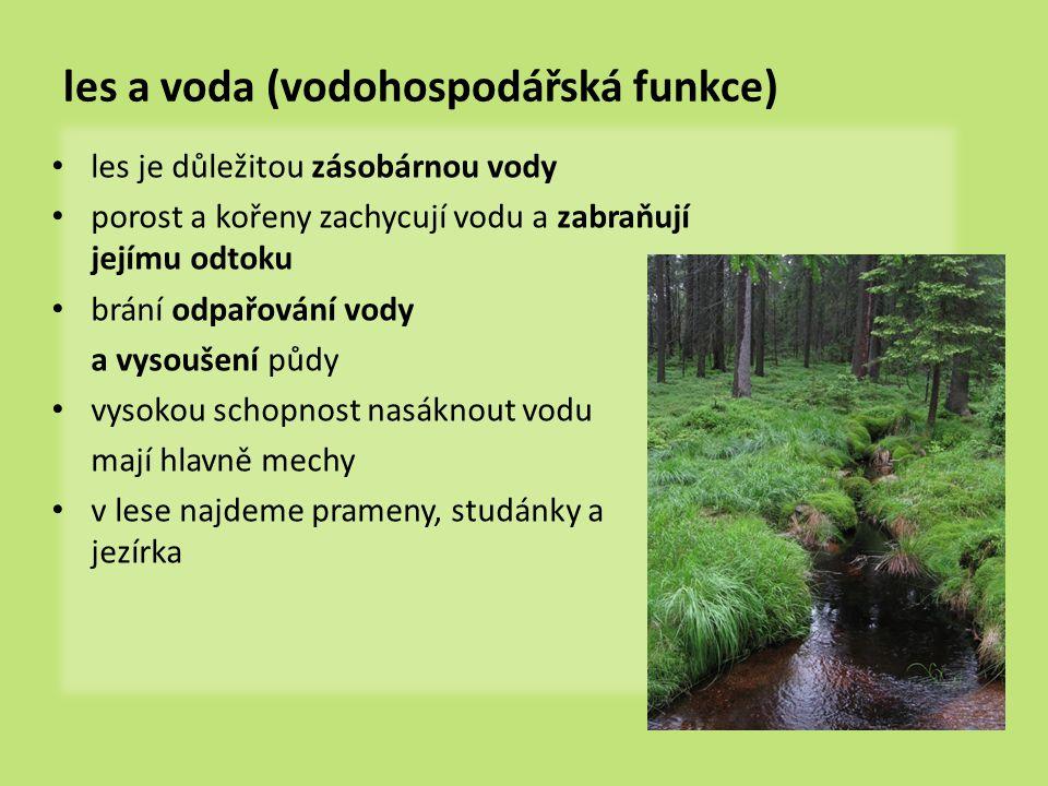 les a voda (vodohospodářská funkce)