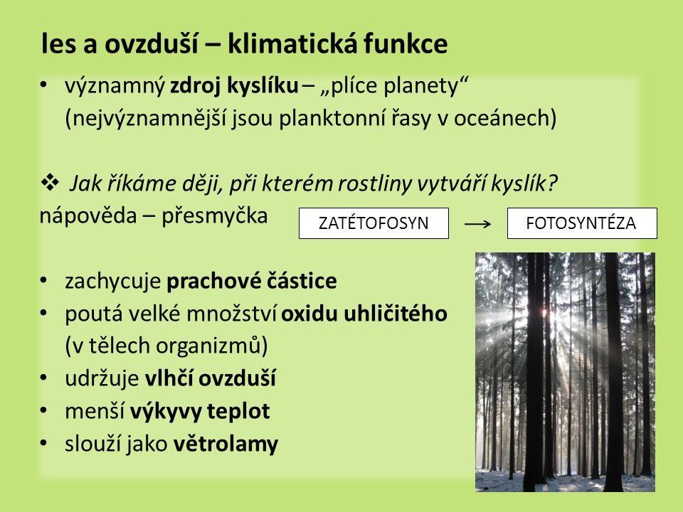 les a ovzduší – klimatická funkce