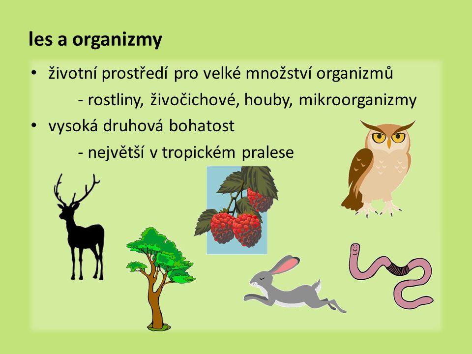 les a organizmy životní prostředí pro velké množství organizmů