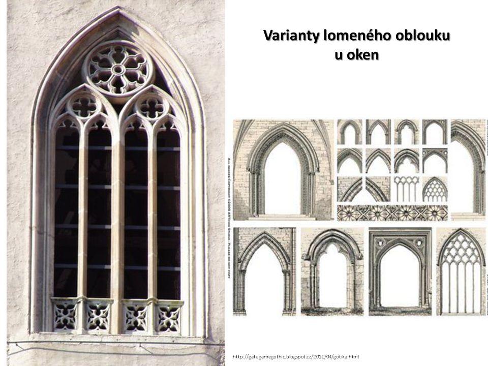 Varianty lomeného oblouku u oken