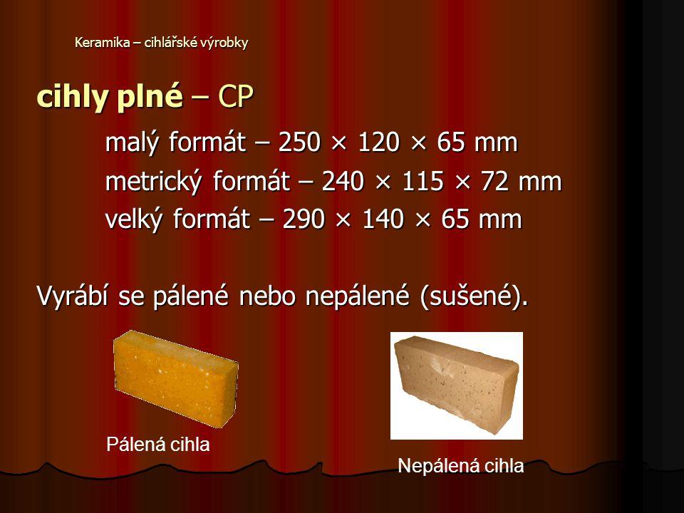 Keramika – cihlářské výrobky