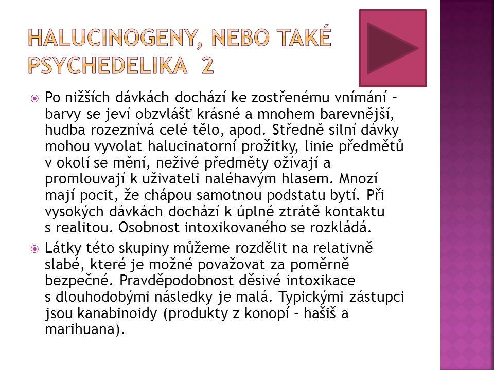 Halucinogeny, nebo také psychedelika 2