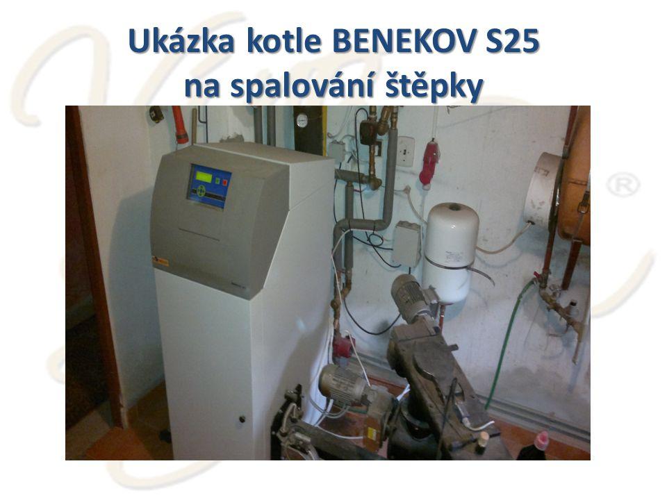 Ukázka kotle BENEKOV S25 na spalování štěpky