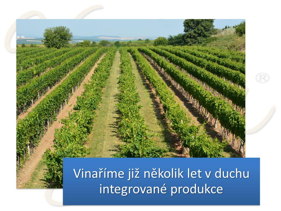 Vinaříme již několik let v duchu integrované produkce