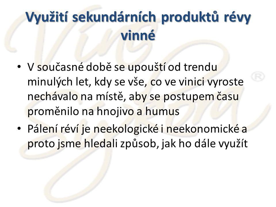 Využití sekundárních produktů révy vinné