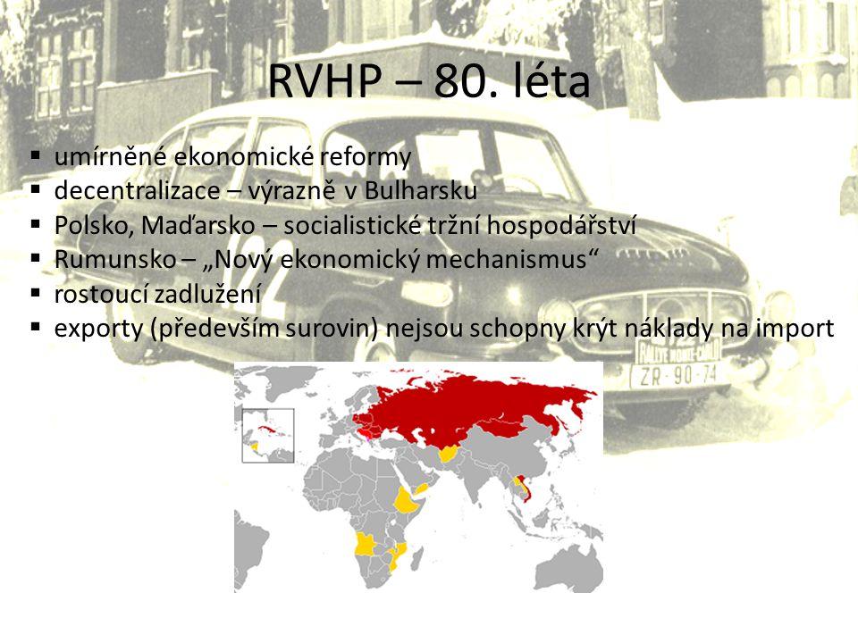 RVHP – 80. léta umírněné ekonomické reformy