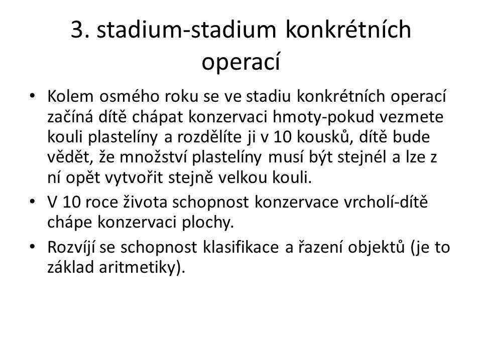 3. stadium-stadium konkrétních operací