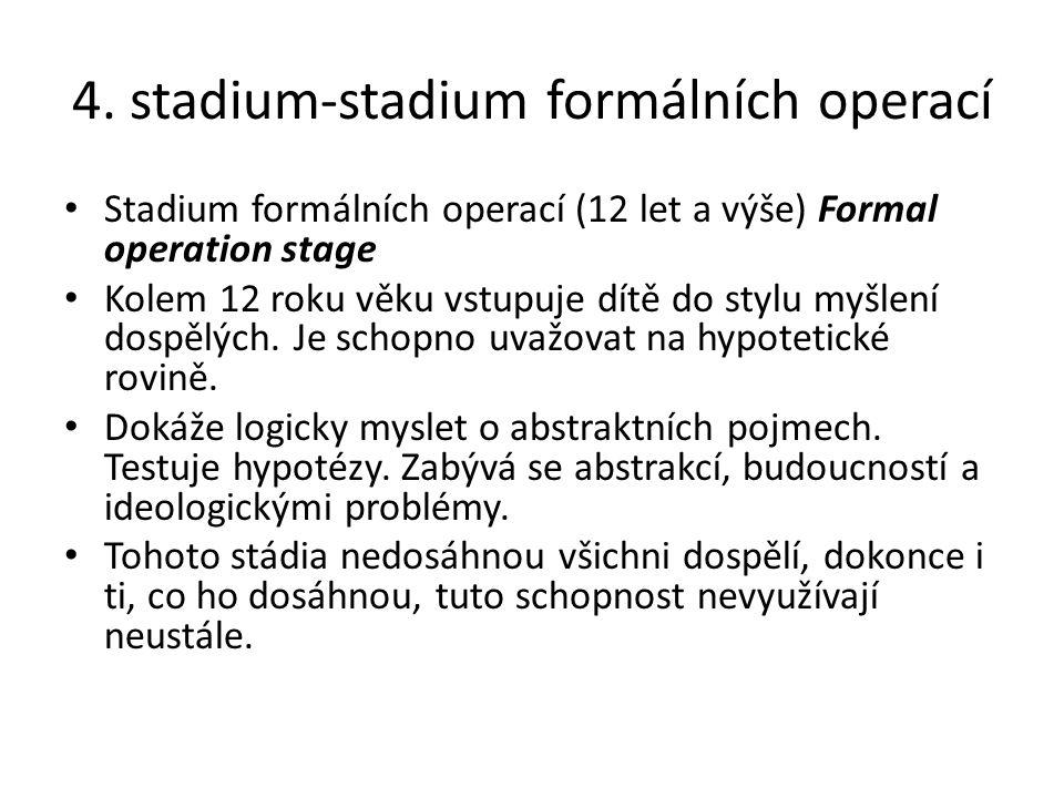4. stadium-stadium formálních operací