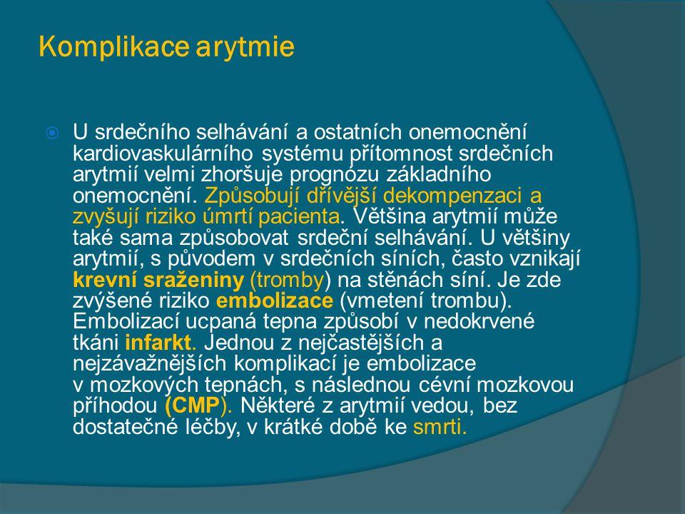 Komplikace arytmie
