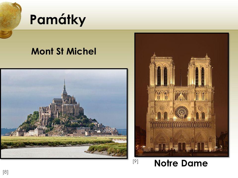 Památky Mont St Michel Notre Dame