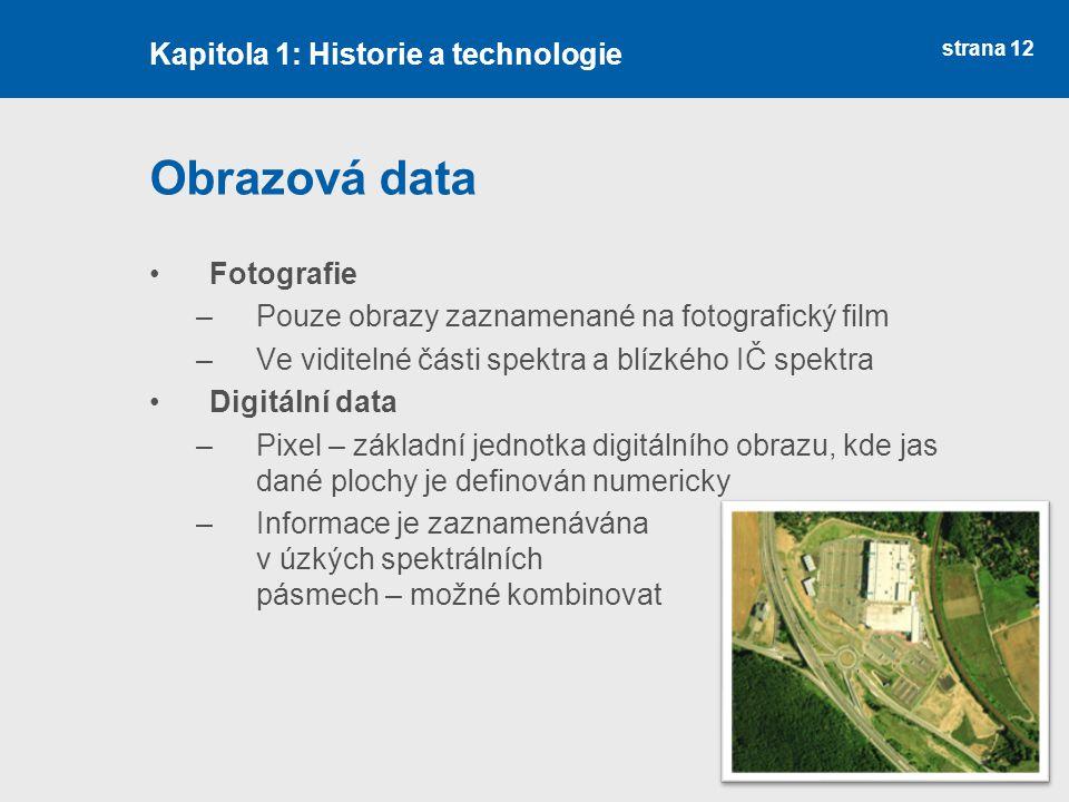 Obrazová data Kapitola 1: Historie a technologie Fotografie