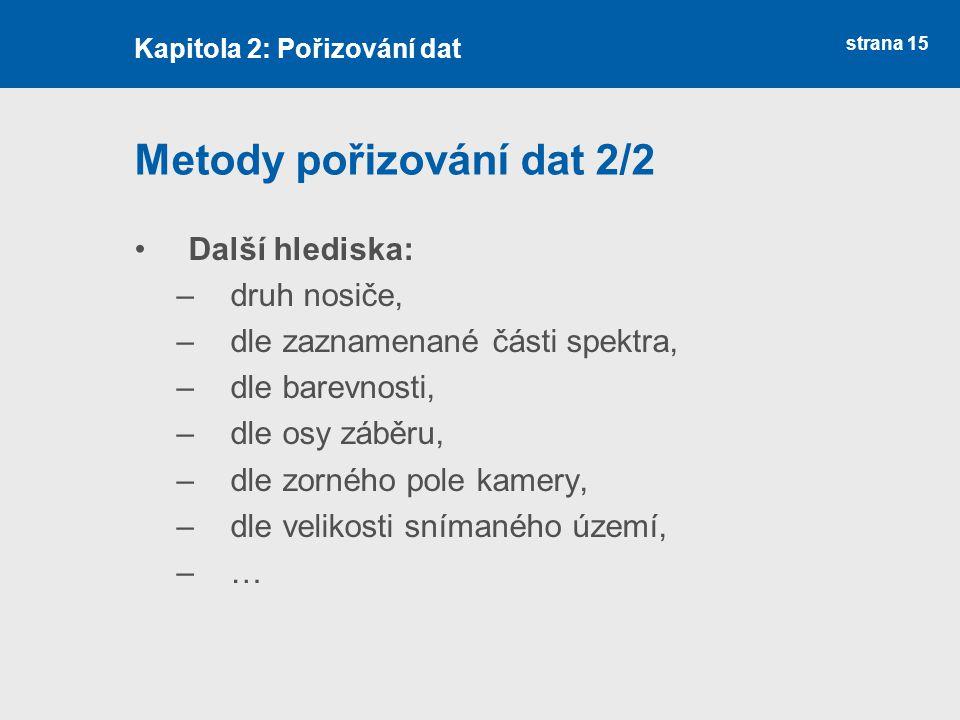 Metody pořizování dat 2/2