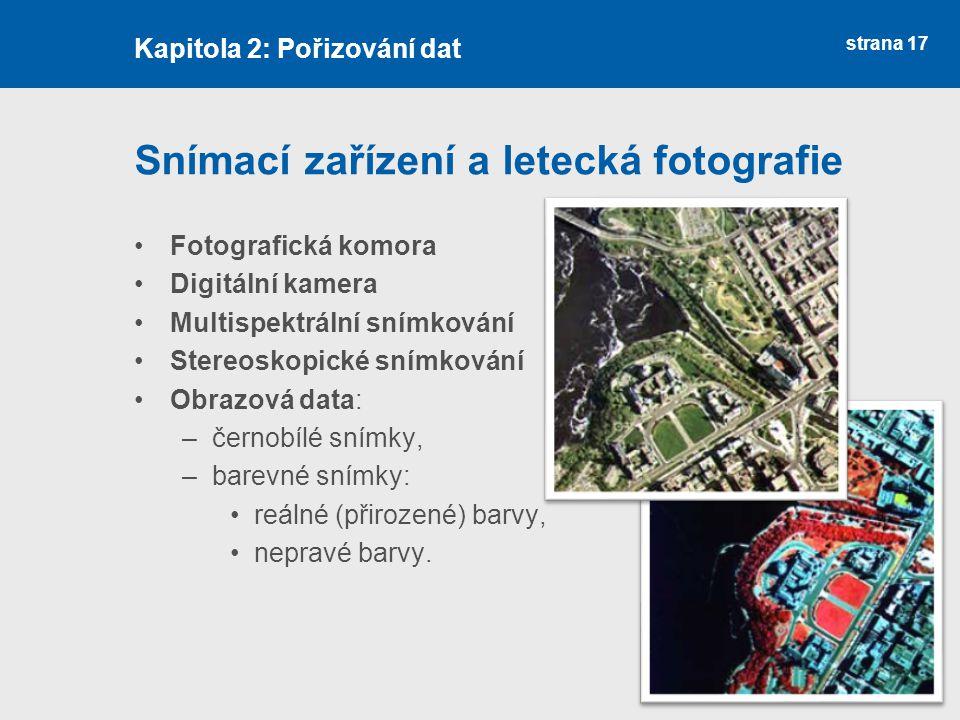 Snímací zařízení a letecká fotografie