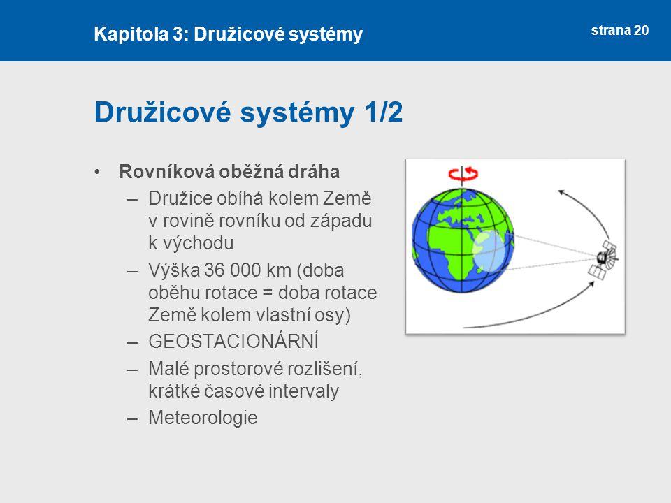 Družicové systémy 1/2 Kapitola 3: Družicové systémy