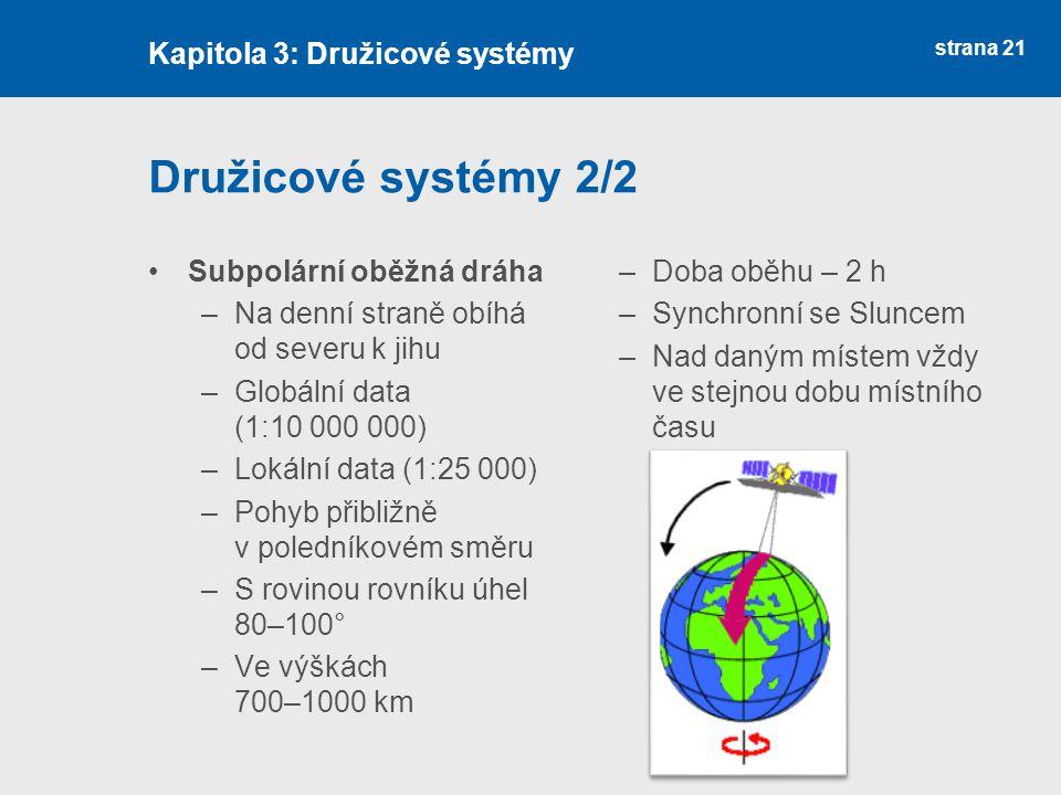 Družicové systémy 2/2 Kapitola 3: Družicové systémy