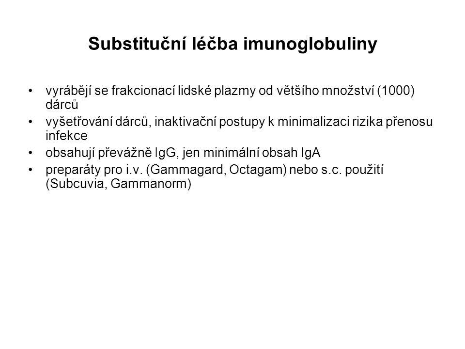 Substituční léčba imunoglobuliny