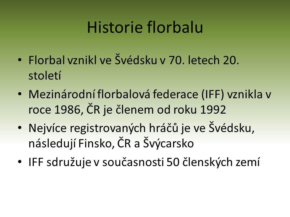 Historie florbalu Florbal vznikl ve Švédsku v 70. letech 20. století