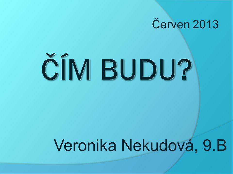 Červen 2013 Čím budu Veronika Nekudová, 9.B