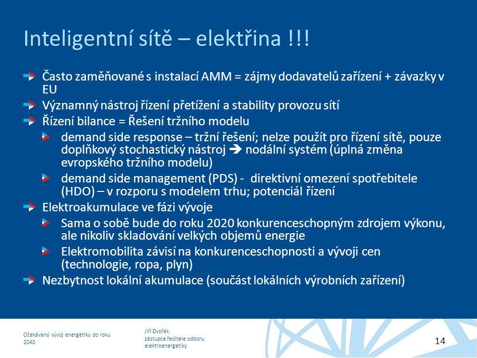 Inteligentní sítě – elektřina !!!
