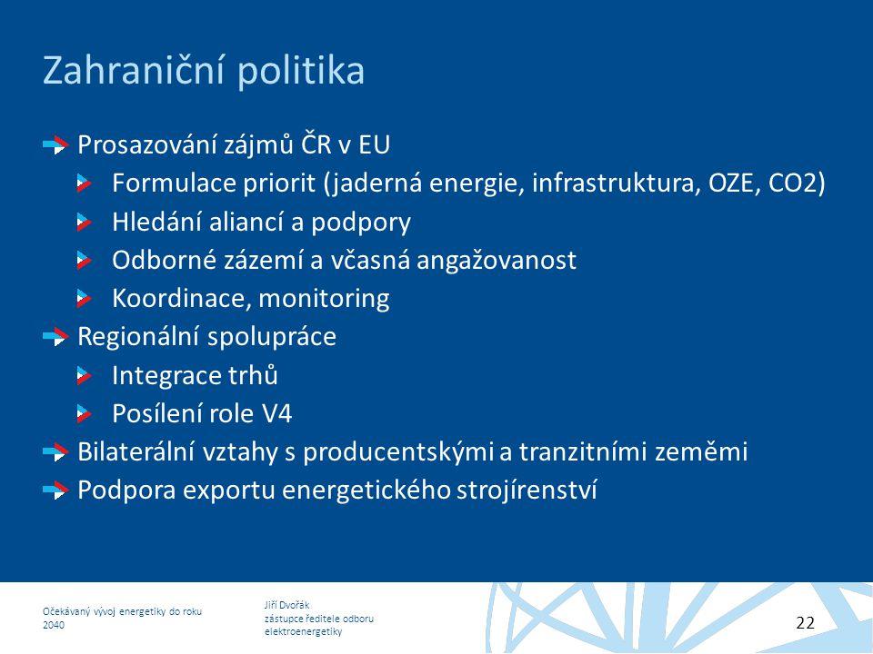 Zahraniční politika Prosazování zájmů ČR v EU