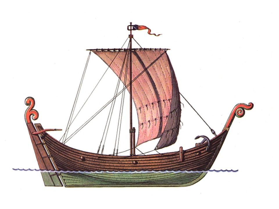 - Knarr- obchodní loď z 10. -11. stol