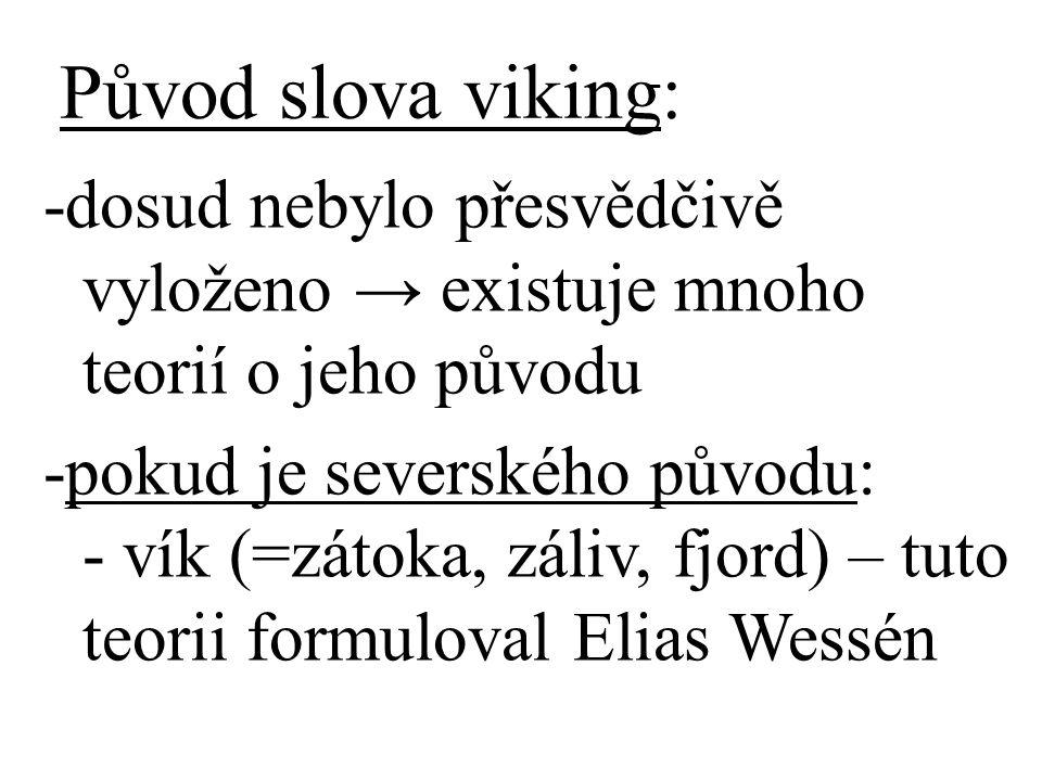 Původ slova viking: