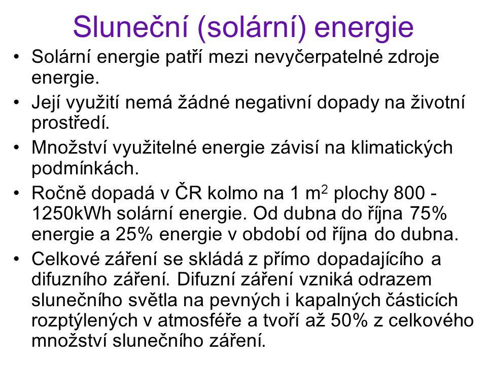 Sluneční (solární) energie