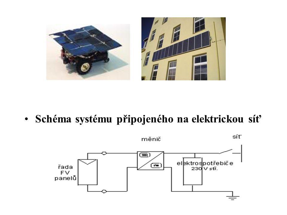 Schéma systému připojeného na elektrickou síť