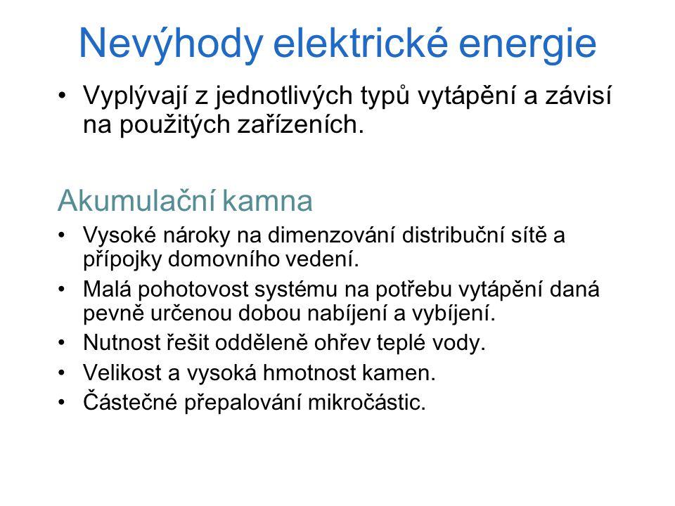 Nevýhody elektrické energie