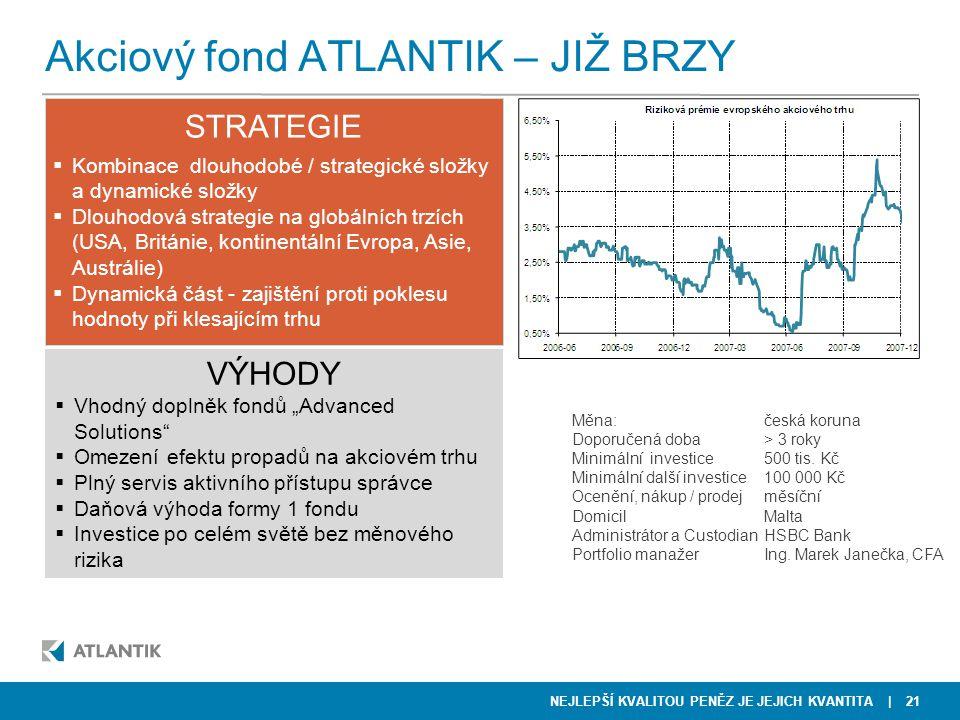 Akciový fond ATLANTIK – JIŽ BRZY