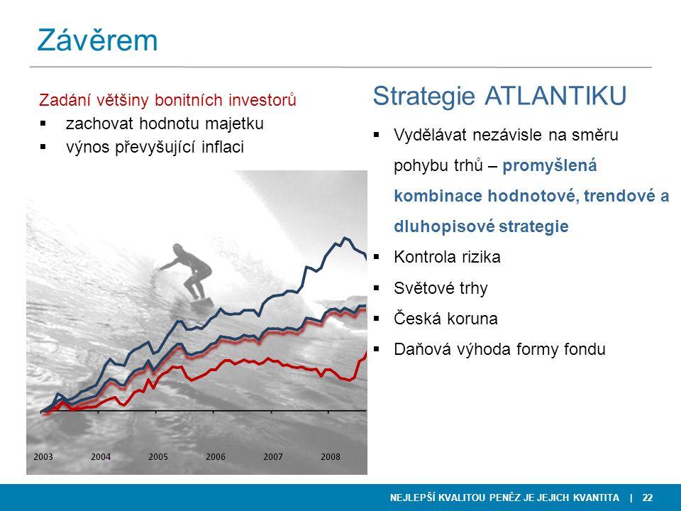 Závěrem Strategie ATLANTIKU Zadání většiny bonitních investorů