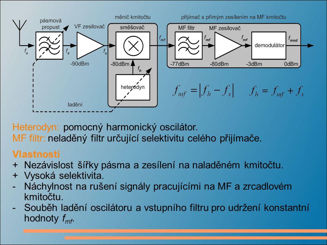 Heterodyn: pomocný harmonický oscilátor.