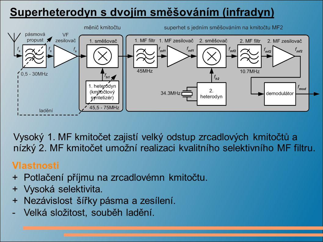 Superheterodyn s dvojím směšováním (infradyn)