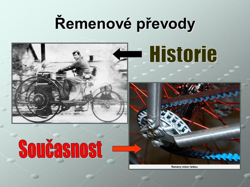 Řemenové převody Historie Současnost