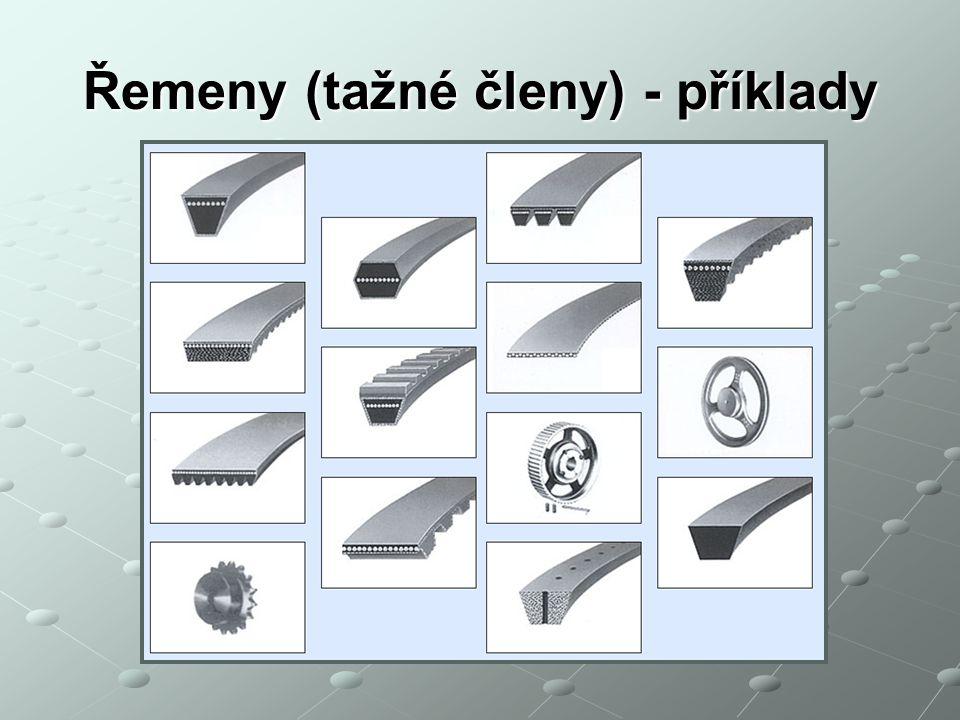 Řemeny (tažné členy) - příklady