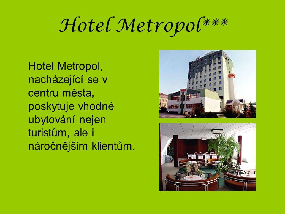 Hotel Metropol*** Hotel Metropol, nacházející se v centru města, poskytuje vhodné ubytování nejen turistům, ale i náročnějším klientům.
