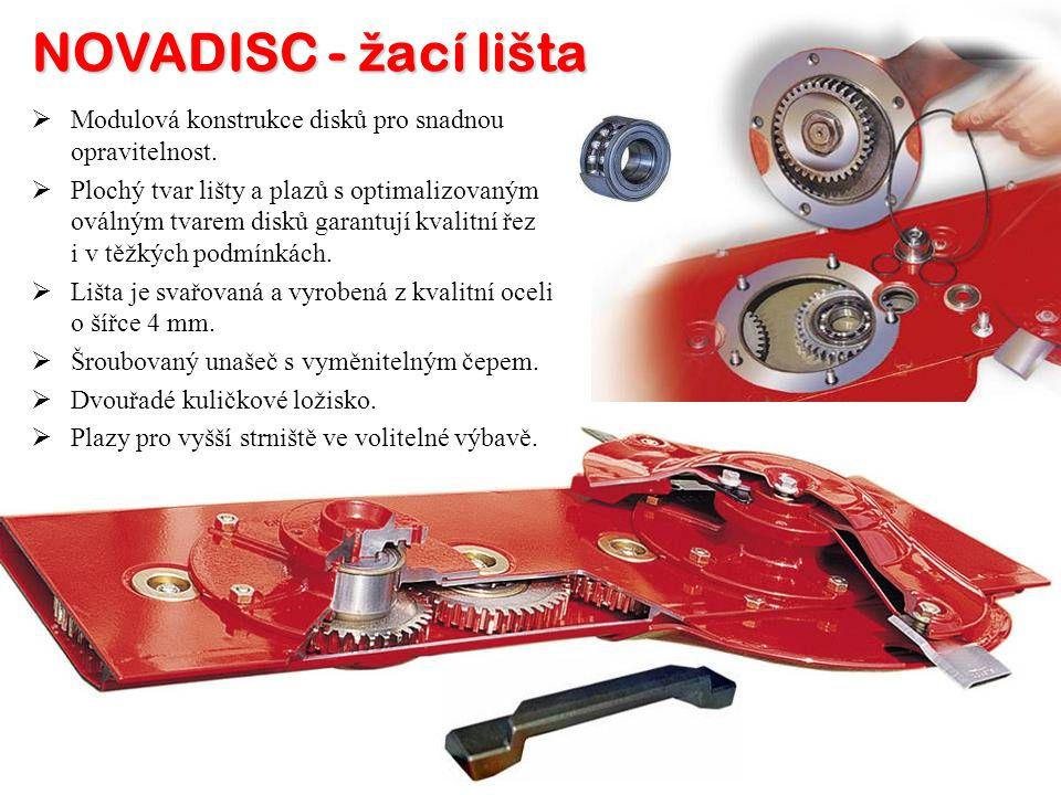 NOVADISC - žací lišta Modulová konstrukce disků pro snadnou opravitelnost.
