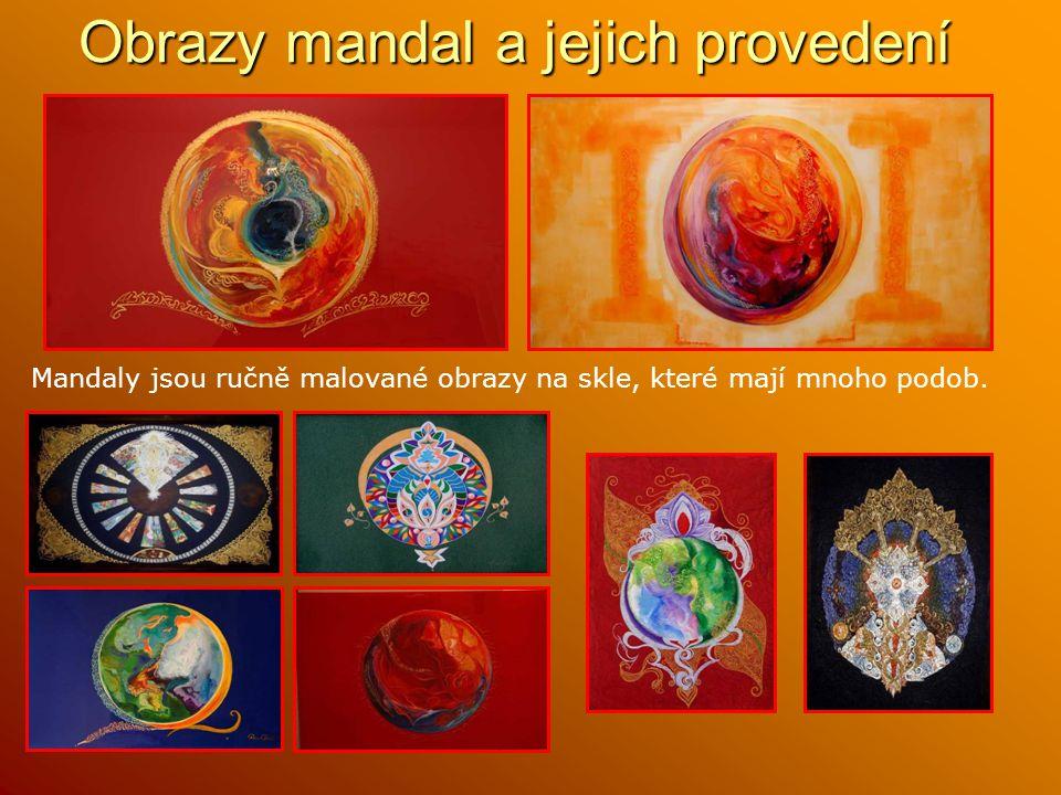 Obrazy mandal a jejich provedení
