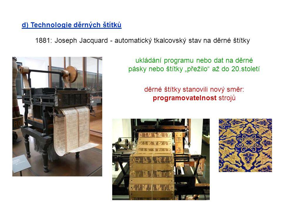děrné štítky stanovili nový směr: programovatelnost strojů