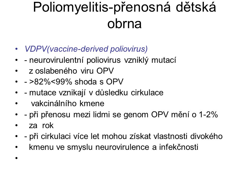 Poliomyelitis-přenosná dětská obrna