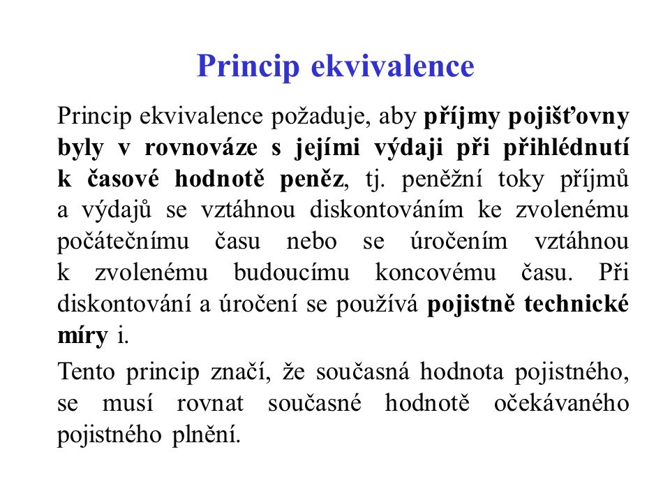 Princip ekvivalence