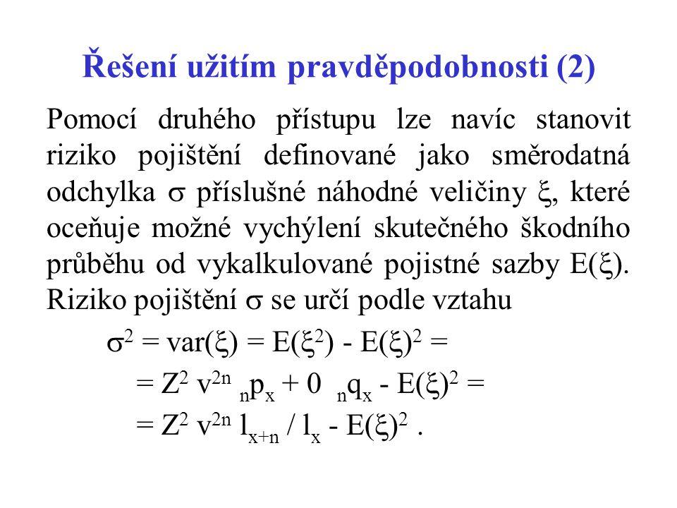 Řešení užitím pravděpodobnosti (2)