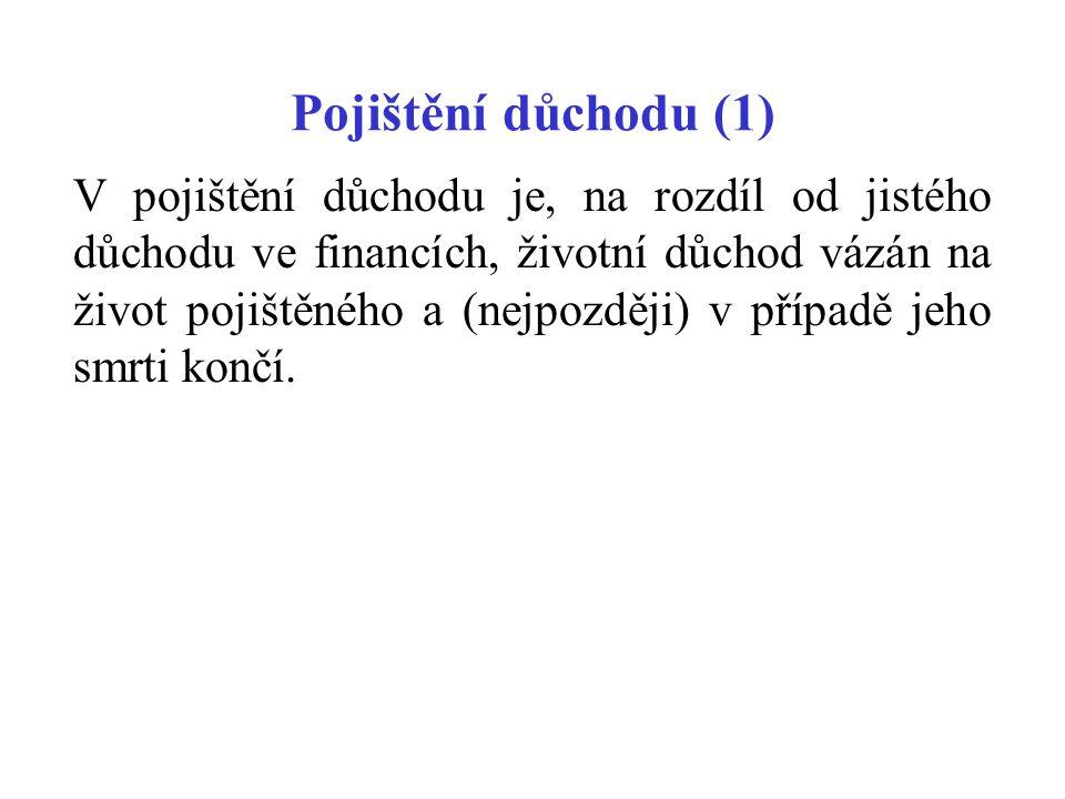 Pojištění důchodu (1)
