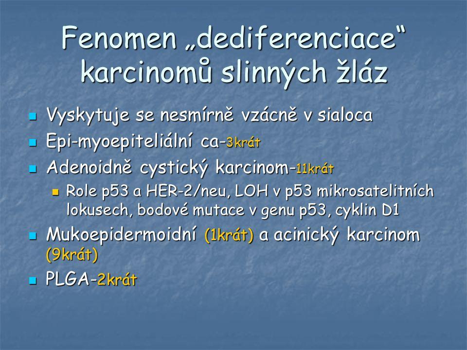 "Fenomen ""dediferenciace karcinomů slinných žláz"