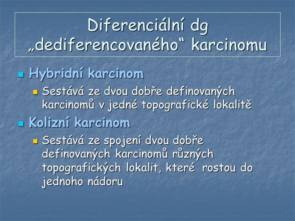 """Diferenciální dg """"dediferencovaného karcinomu"""
