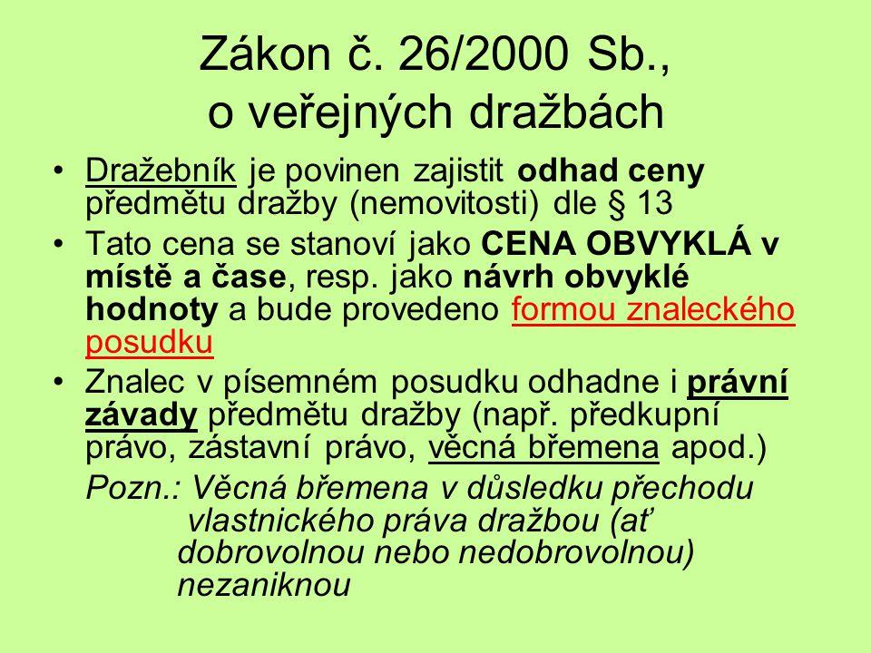 Zákon č. 26/2000 Sb., o veřejných dražbách