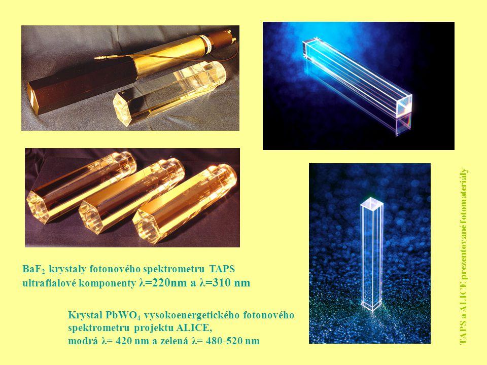 BaF2 krystaly fotonového spektrometru TAPS