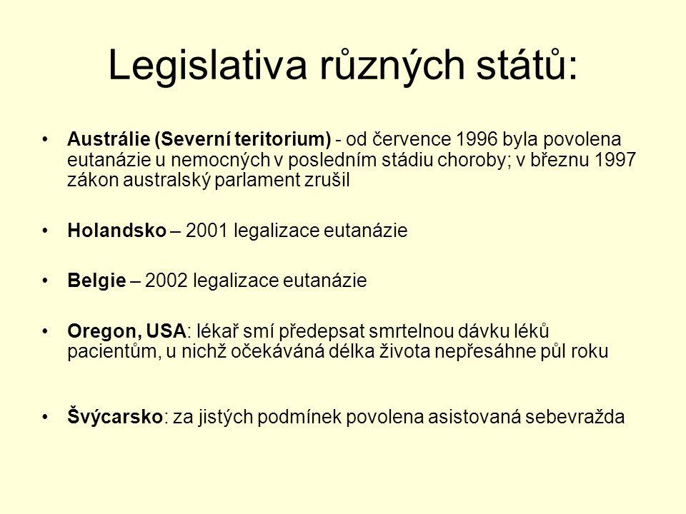 Legislativa různých států: